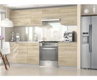 Moderní kuchyňská sestava TORINO ECONOMY v dubovém provedení
