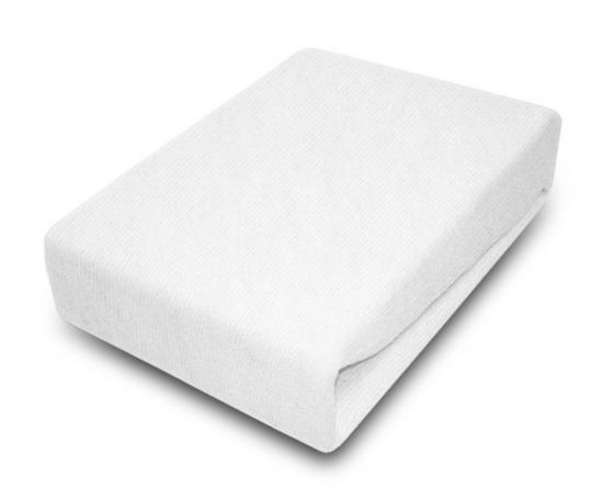 Prostěradlo JERSEY 80x180 cm Bílá 100% bavlna