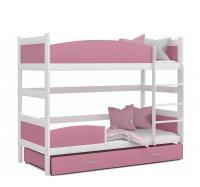Dětská patrová postel se zábranou TWIST 190x90