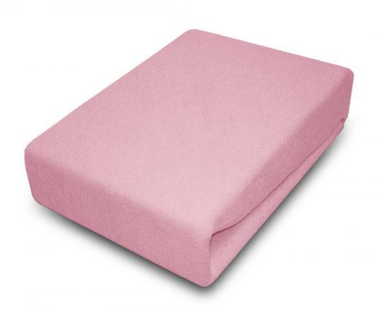 Prostěradlo JERSEY 80x180 cm Růžová 100% bavlna