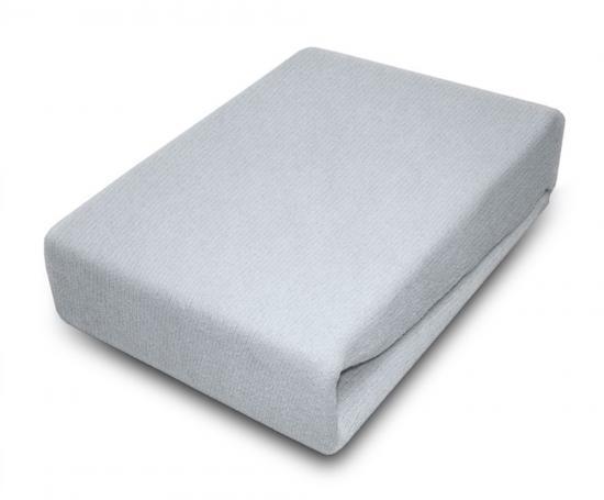 Prostěradlo JERSEY 80x180 cm Světle šedá 100% bavlna