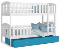 Dětská postel KUBU 190x80 cm BÍLÁ - MODRÁ VÝPRODEJ!