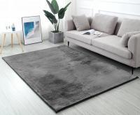 Hebký koberec RABBIT TMAVĚ ŠEDÁ 170x120 cm
