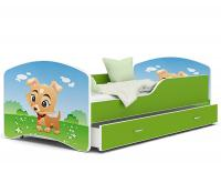 Dětská postel IGOR ZELENÁ PEJSEK 160x80cm VÝPRODEJ
