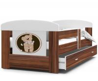 Dětská postel FILIP Medvídek 80x180 cm s různými motivy v havana provedení (VÝPRODEJ)