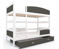Dětská patrová postel se zábranou TWIST 190x90 VÝPRODEJ