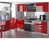 Moderní kuchyňská sestava INFINITY SATURNO v červeném provedení VÝPRODEJ