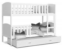 Dětsská postel TAMI 3 200x90cm BÍLÁ VYPRODEJ