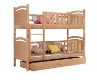 Dětská patrová postel TAMI BOROVICE 190x80cm VÝPRODEJ