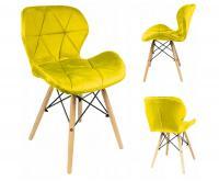 Moderní prošívaná židle ŽLUTÁ