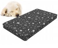Kvalitni psí matrace 101x55cm L 8cm ŠEDÁ