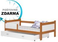 Dřevěná dětská postel se zábranou TWIST P 190x90 (VÝPRODEJ)