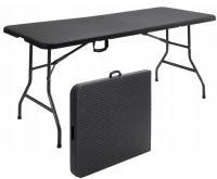 Rozkládací stůl 180x75cm ČERNÁ