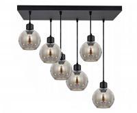 Velké skleněné závěsné svítidlo LED Plafon šedá barva (VÝPRODEJ)
