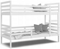 Dětská patrová postel JACEK bez šuplíku 190x80 cm BÍLÁ