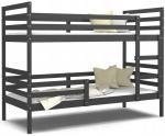 Dětská patrová postel JACEK bez šuplíku 190x80 cm ŠEDÁ