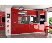 Moderní kuchyňská sestava INFINITY SYNTKA v červeném provedení VÝPRODEJ