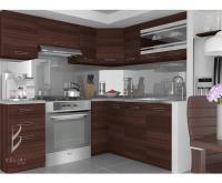 Moderní kuchyňská sestava TORINO LIDIA v kaštanovém provedení VÝPRODEJ